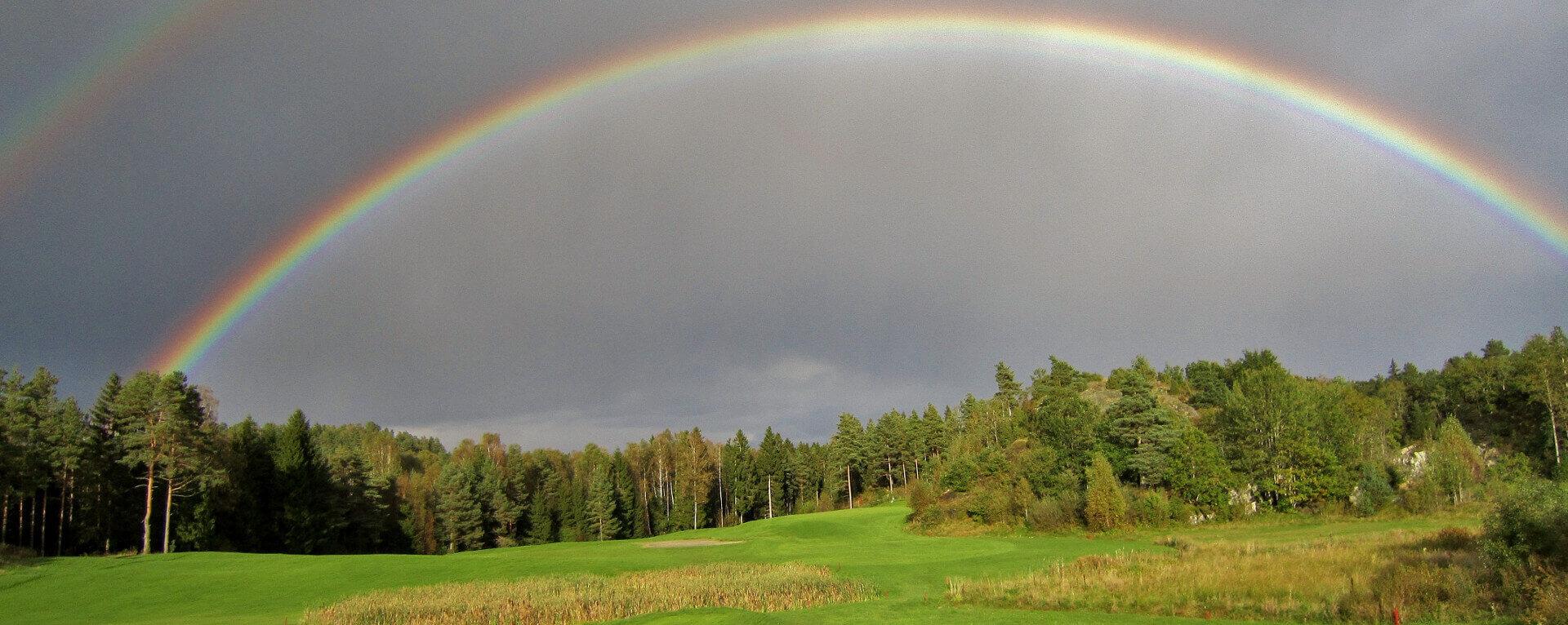 Et bilde fra golfbanen